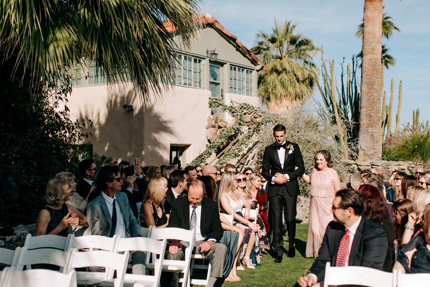 O'Donnell House wedding ceremony in Spring