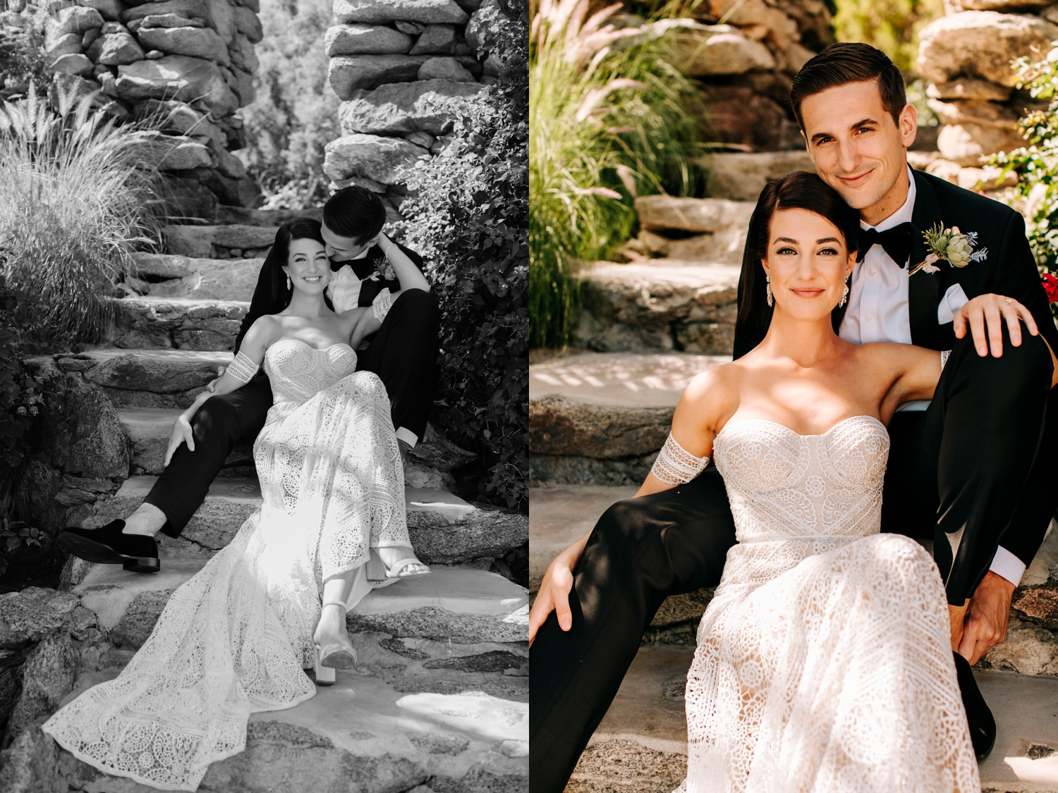 Photos of couple at O'Donnell House Palm Springs
