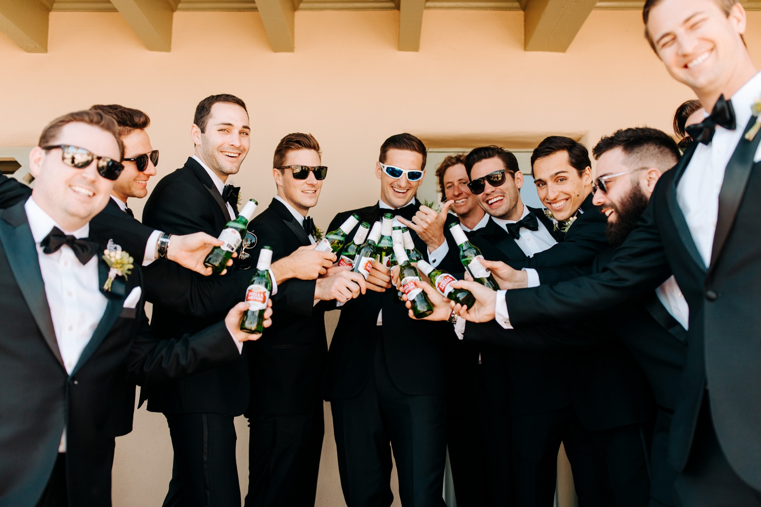 wedding party photos at O'Donnell House Palm Springs