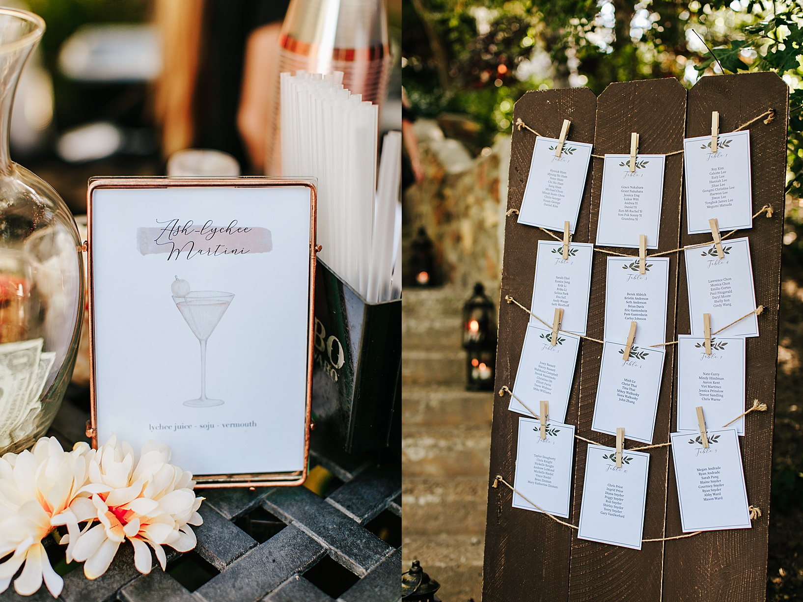 cocktail hour for Julian Wedding at Sacred Mountain