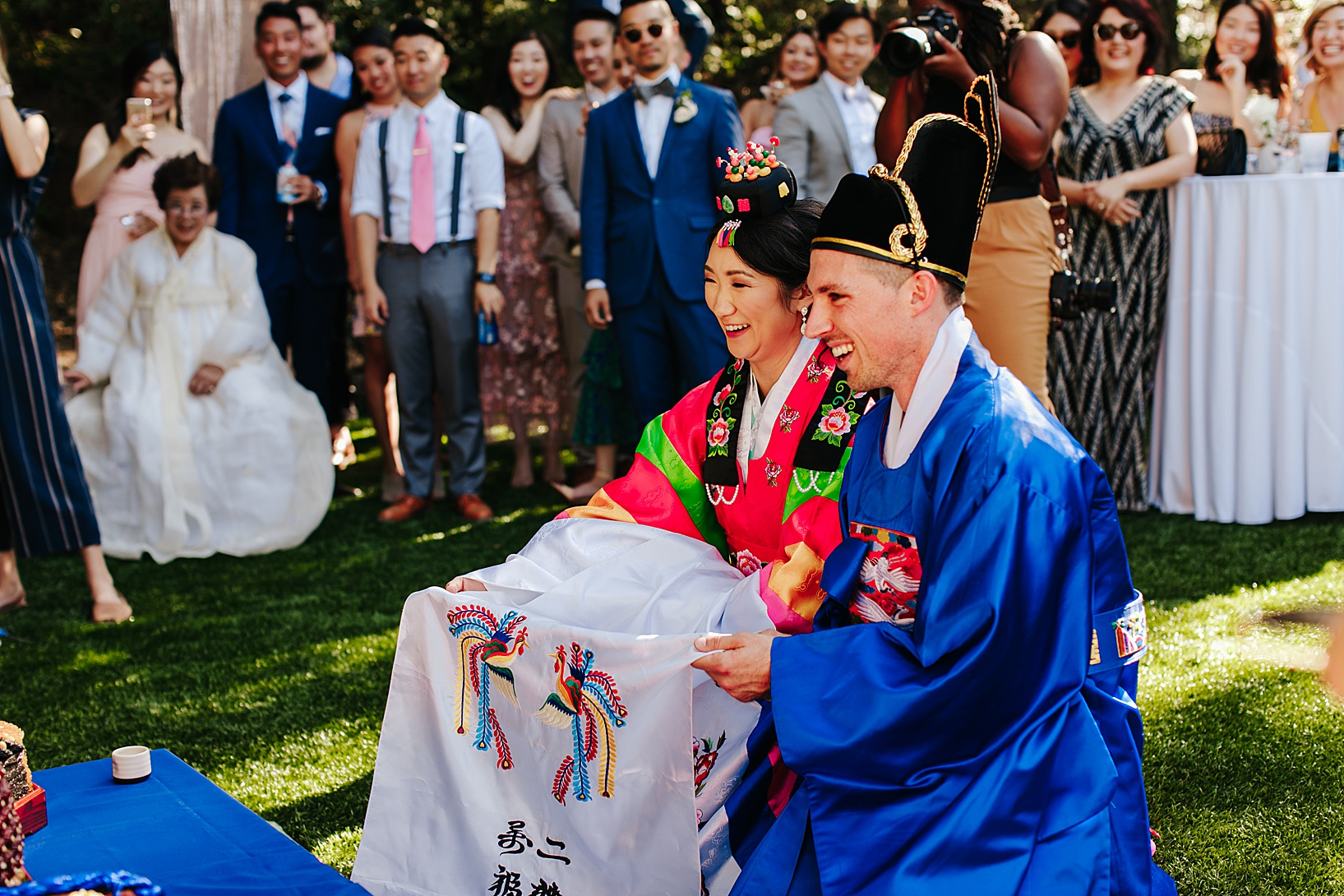Paebaek ceremony for Julian Wedding at Sacred Mountain