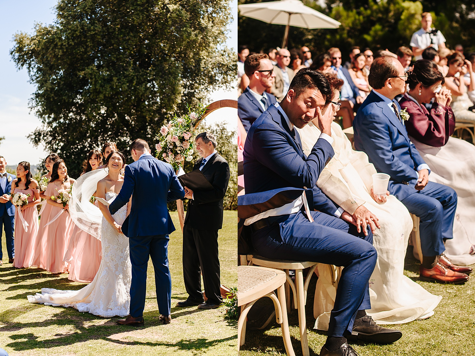 ceremony for Julian Wedding at Sacred Mountain