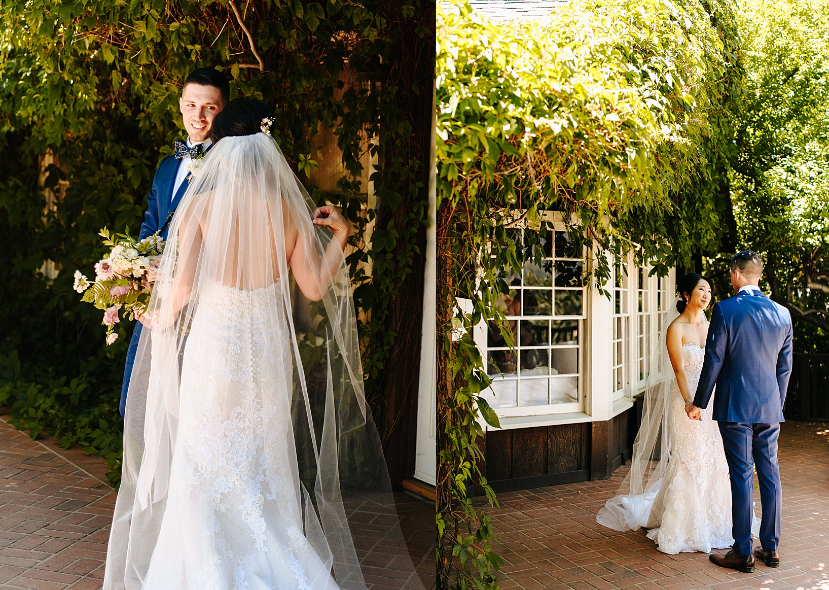 first look for Julian Wedding at Sacred Mountain
