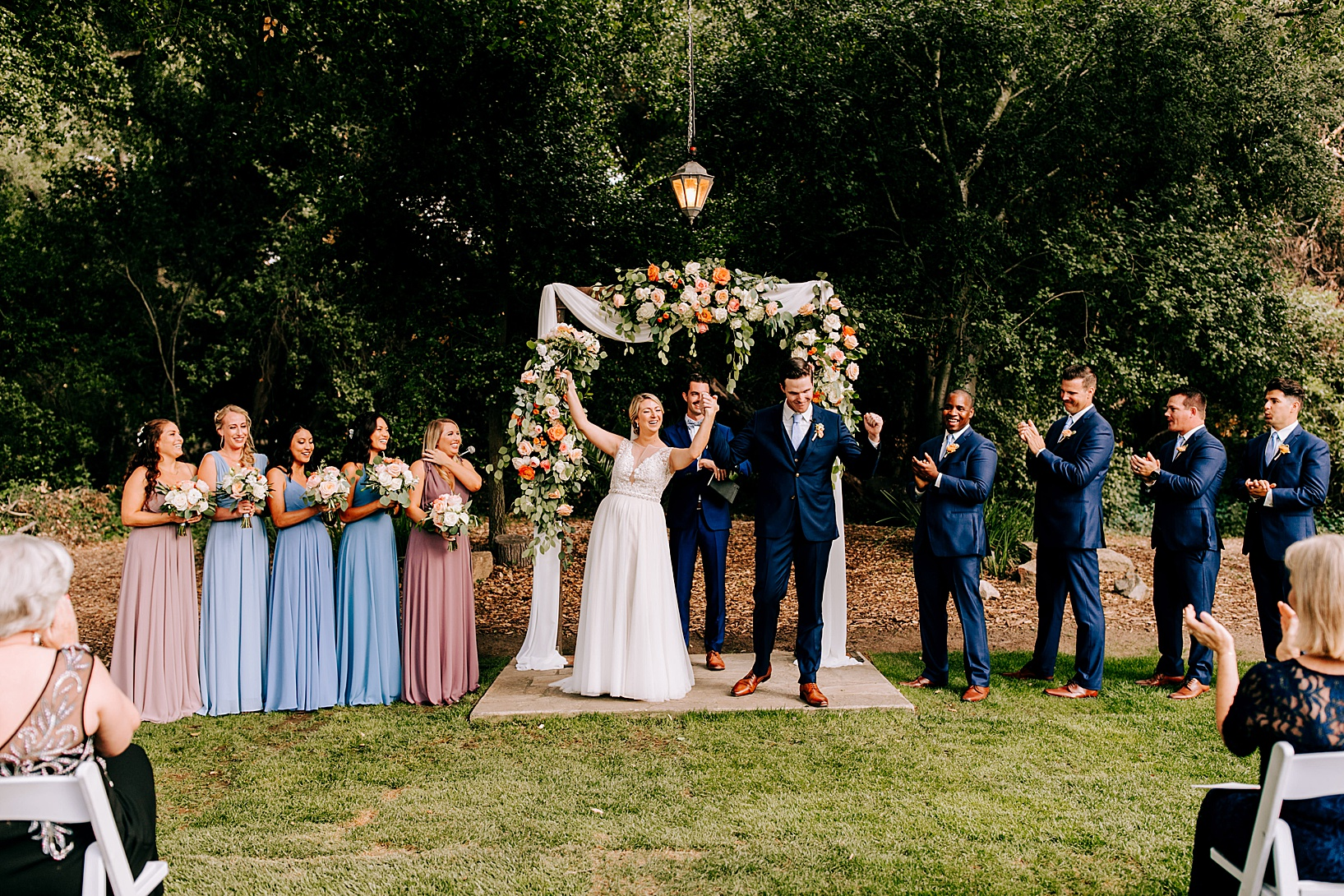Ceremony for Temecula wedding at Temecula Creek Inn