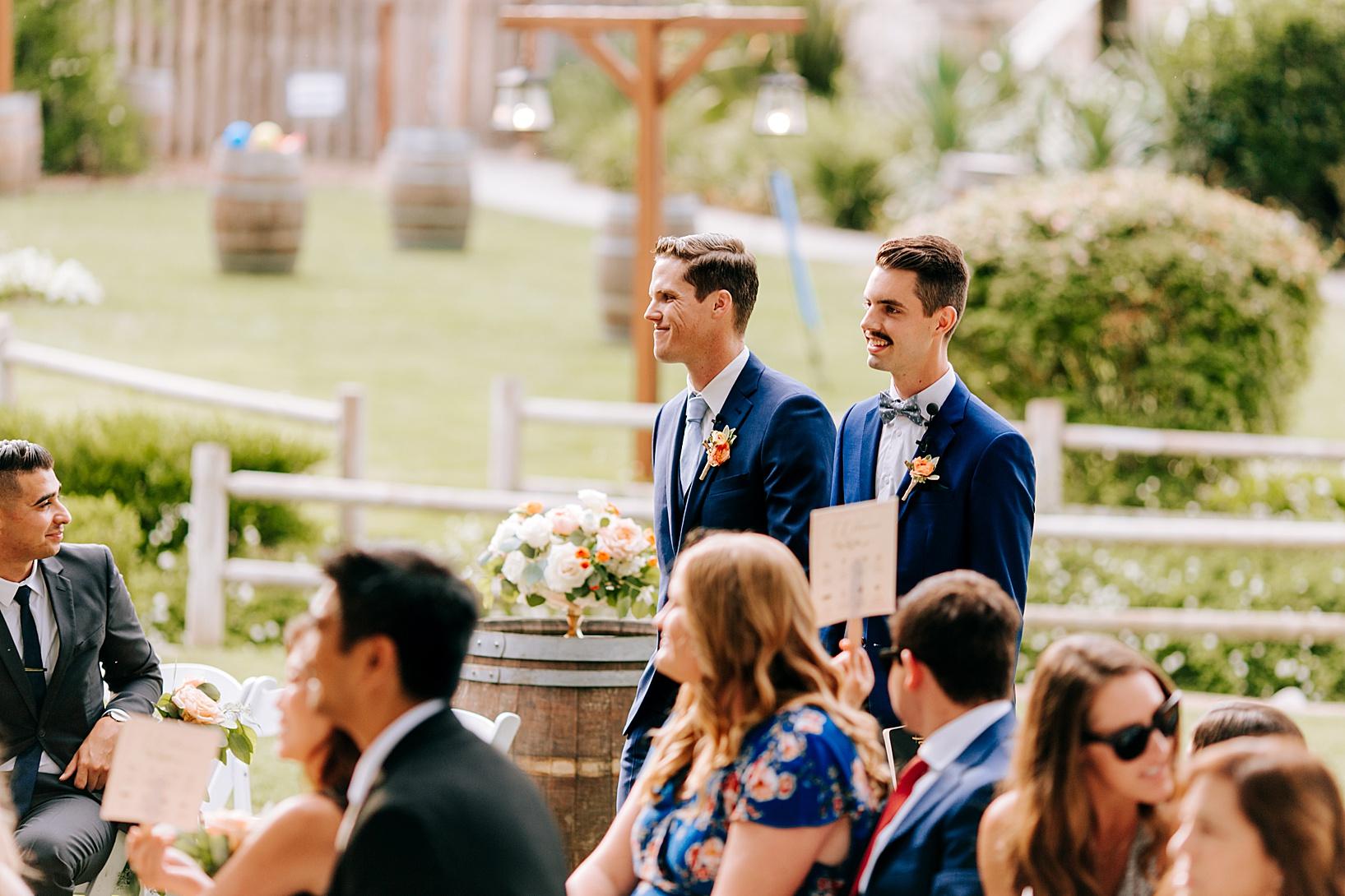 Ceremony Details for Temecula wedding at Temecula Creek Inn