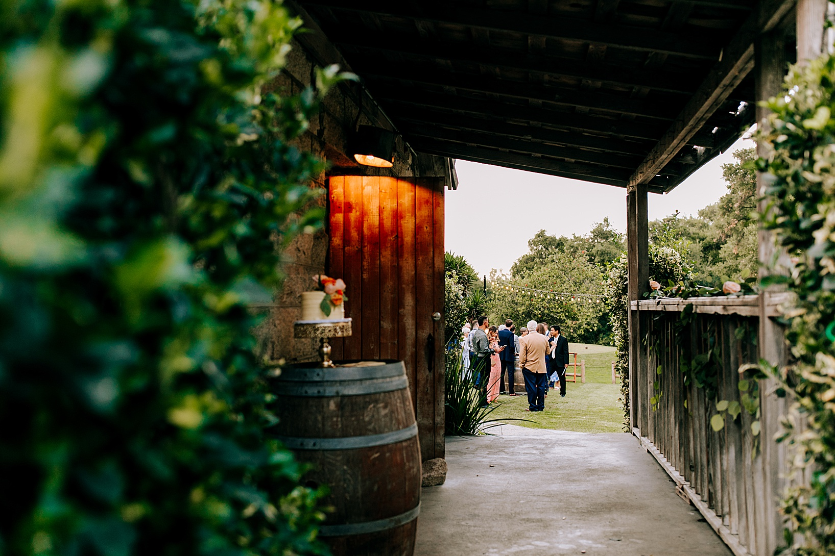 Cocktail hour for Temecula wedding at Temecula Creek Inn
