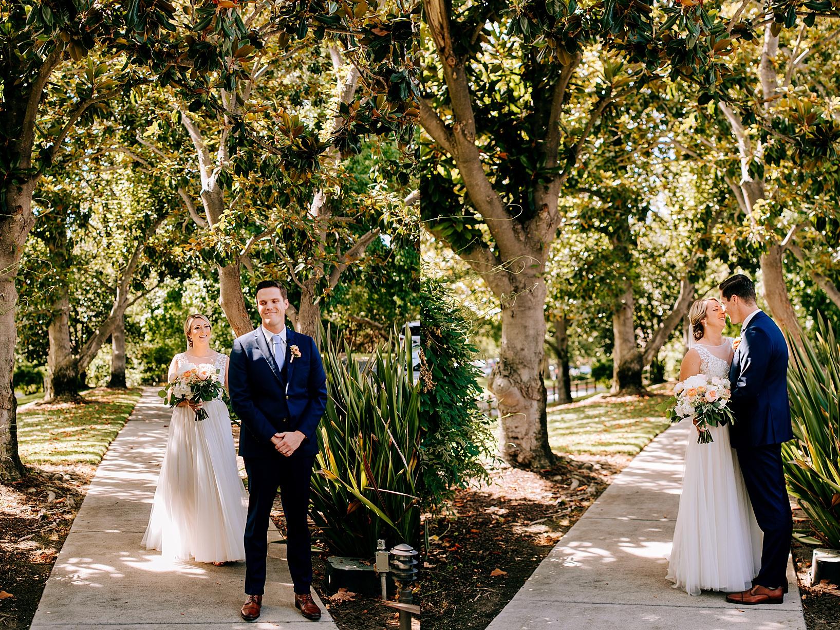 First look for Temecula wedding at Temecula Creek Inn