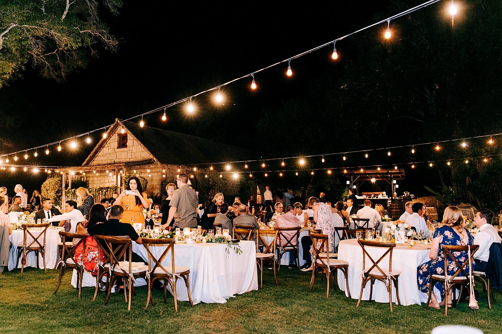 Reception for Temecula wedding at Temecula Creek Inn