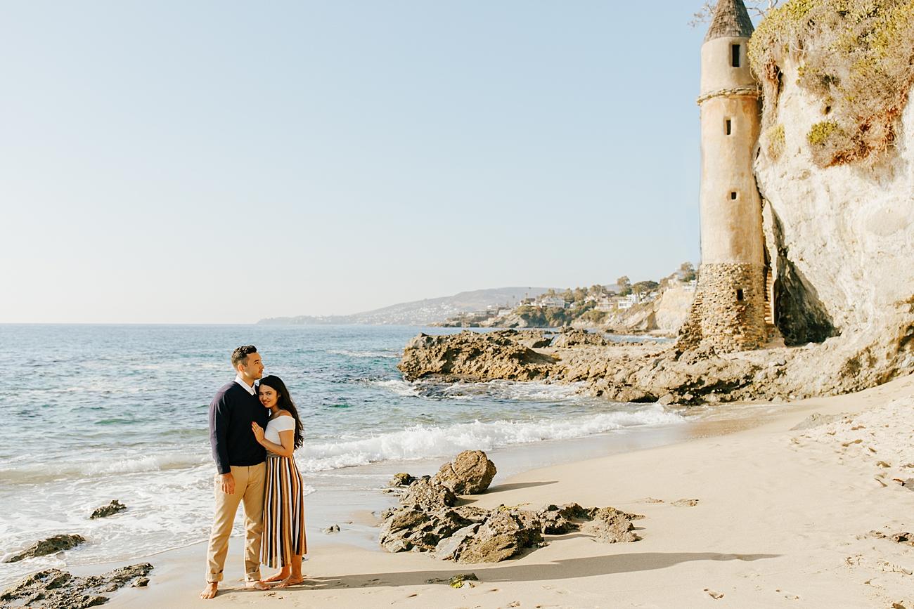 Pirate Tower Laguna Beach Engagement Photos