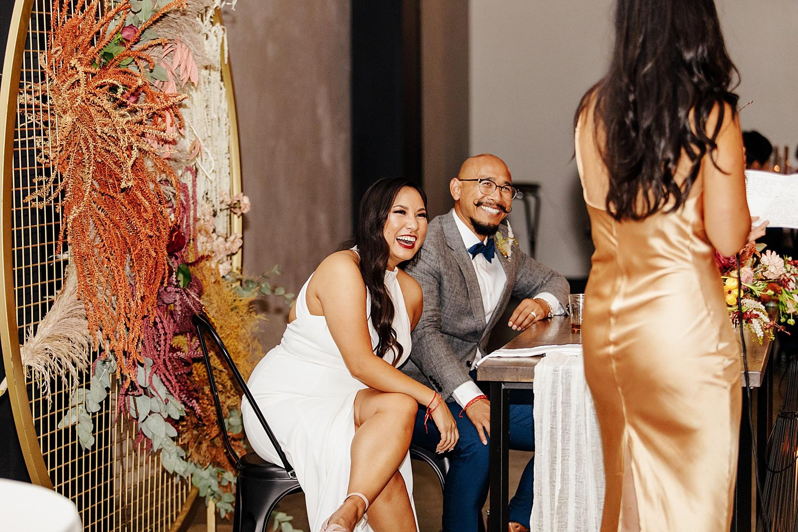 reception for Fullerton Wedding at Hangar 21 South
