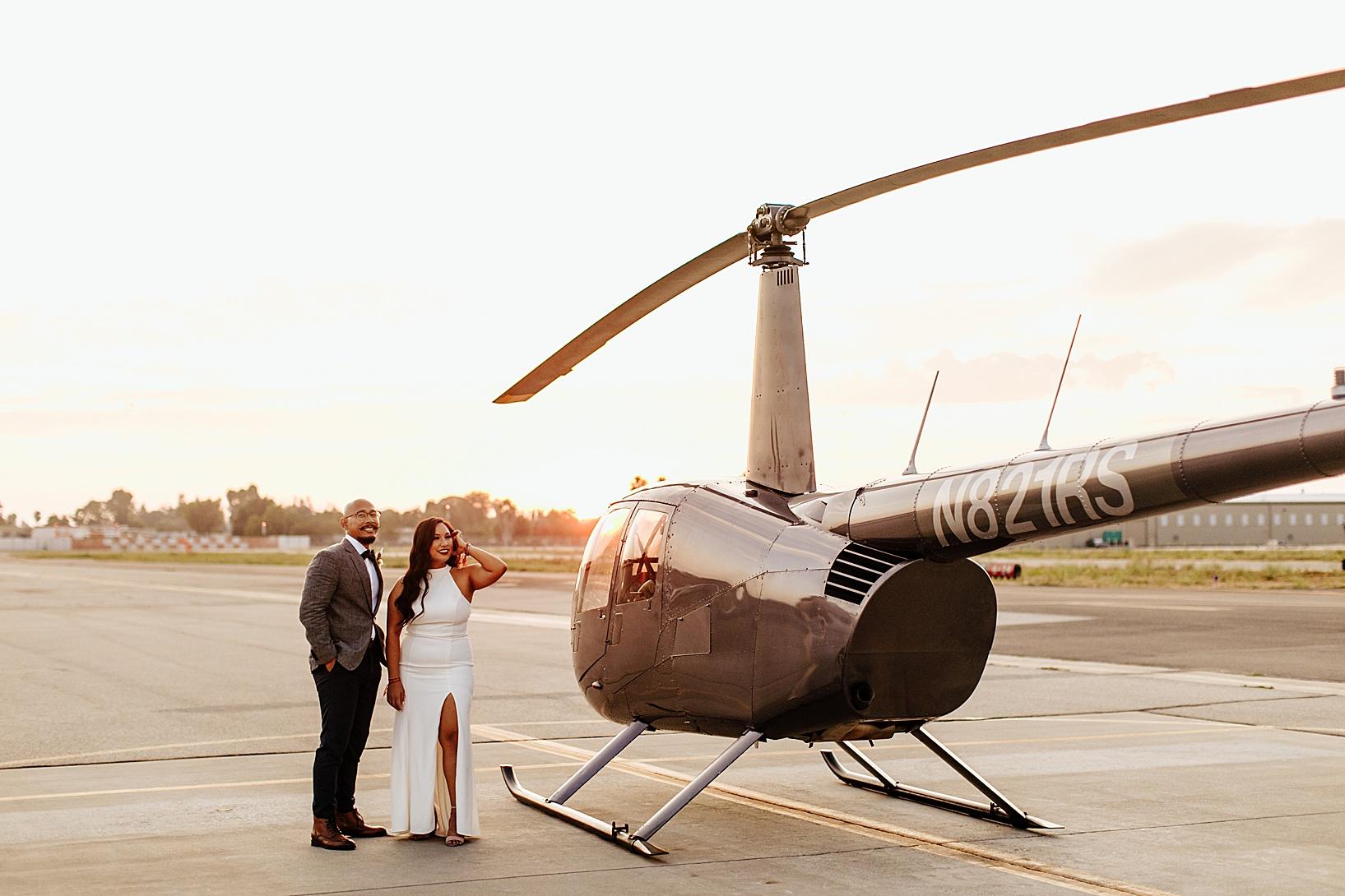 sunset photos for Fullerton Wedding at Hangar 21 South