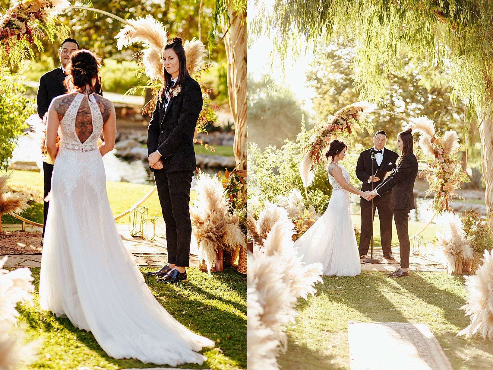 ceremony for Temecula wedding at Galway Downs