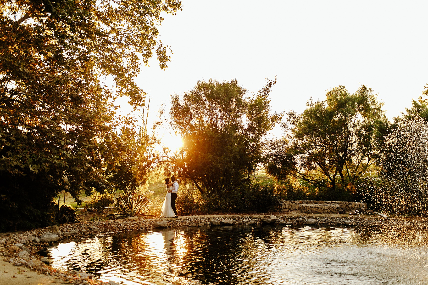 sunset photos for Temecula wedding at Galway Downs