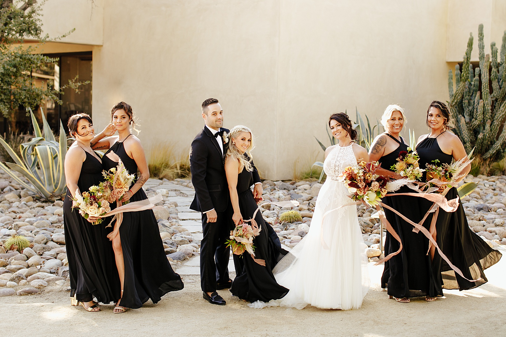 wedding party for Temecula wedding at Galway Downs