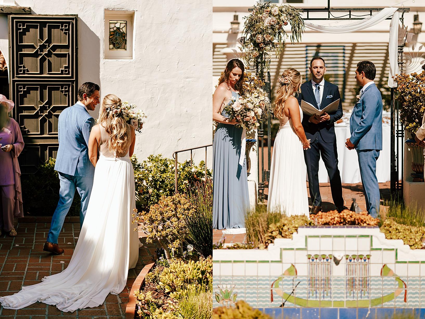 ceremony for La Jolla, Ca wedding at TThe Darlington House