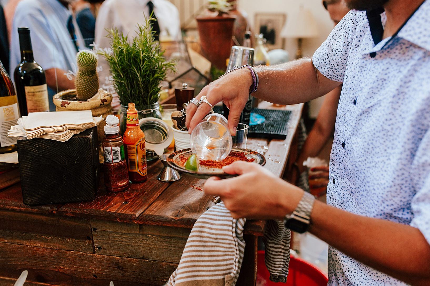 cocktail hour for La Jolla, Ca wedding at TThe Darlington House