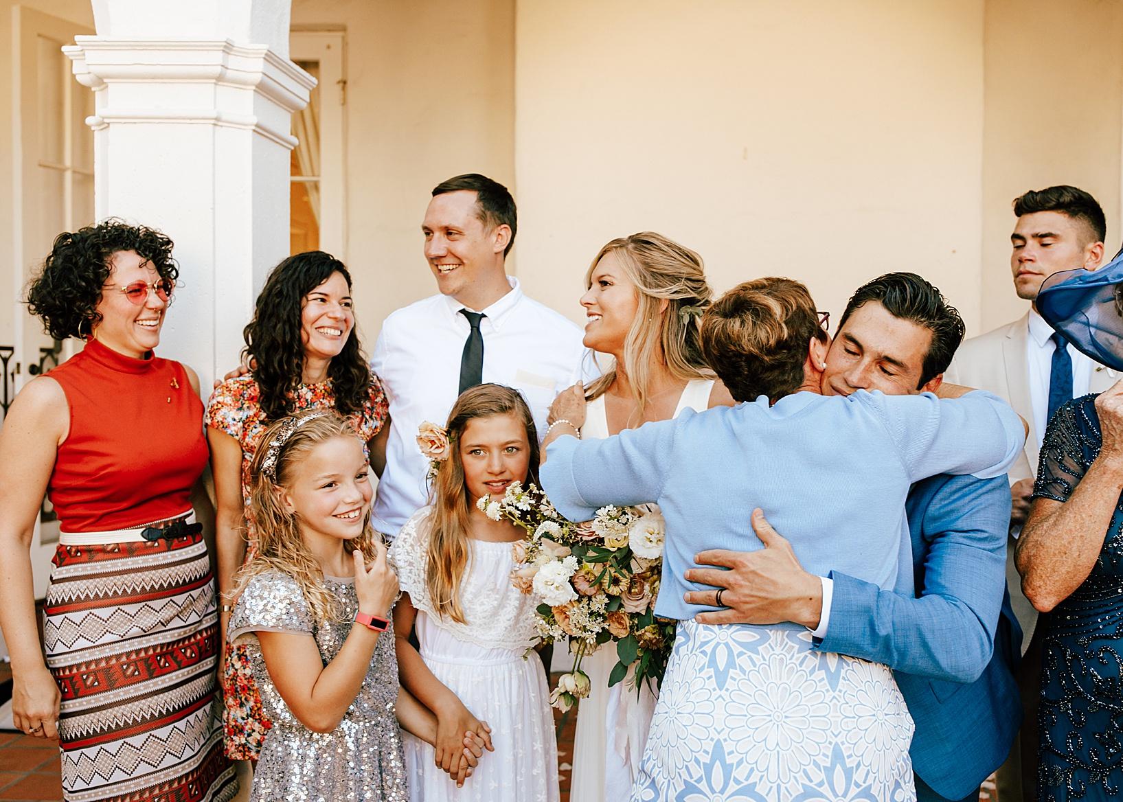 family photos for La Jolla, Ca wedding at TThe Darlington House