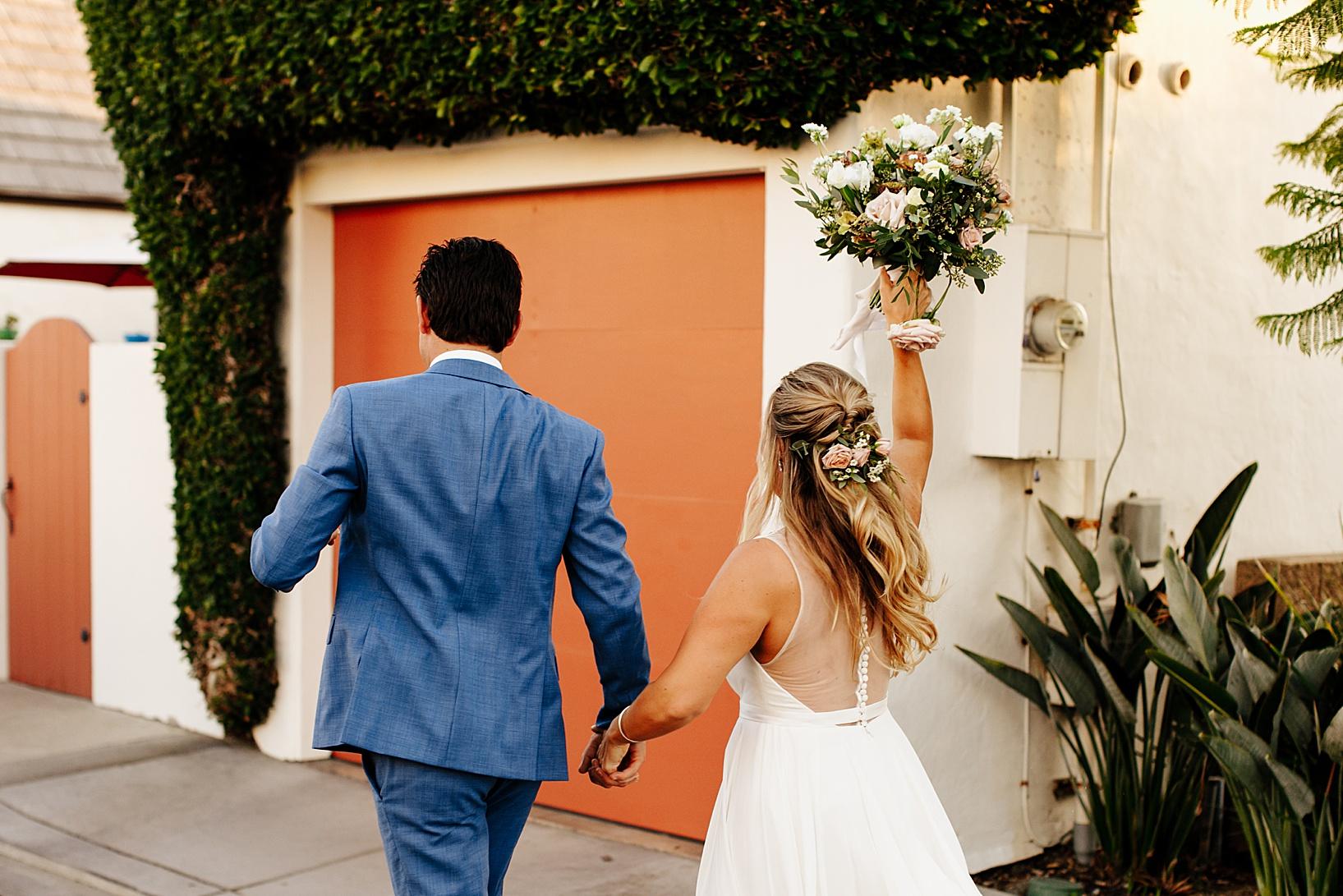 sunset photos for La Jolla, Ca wedding at TThe Darlington House
