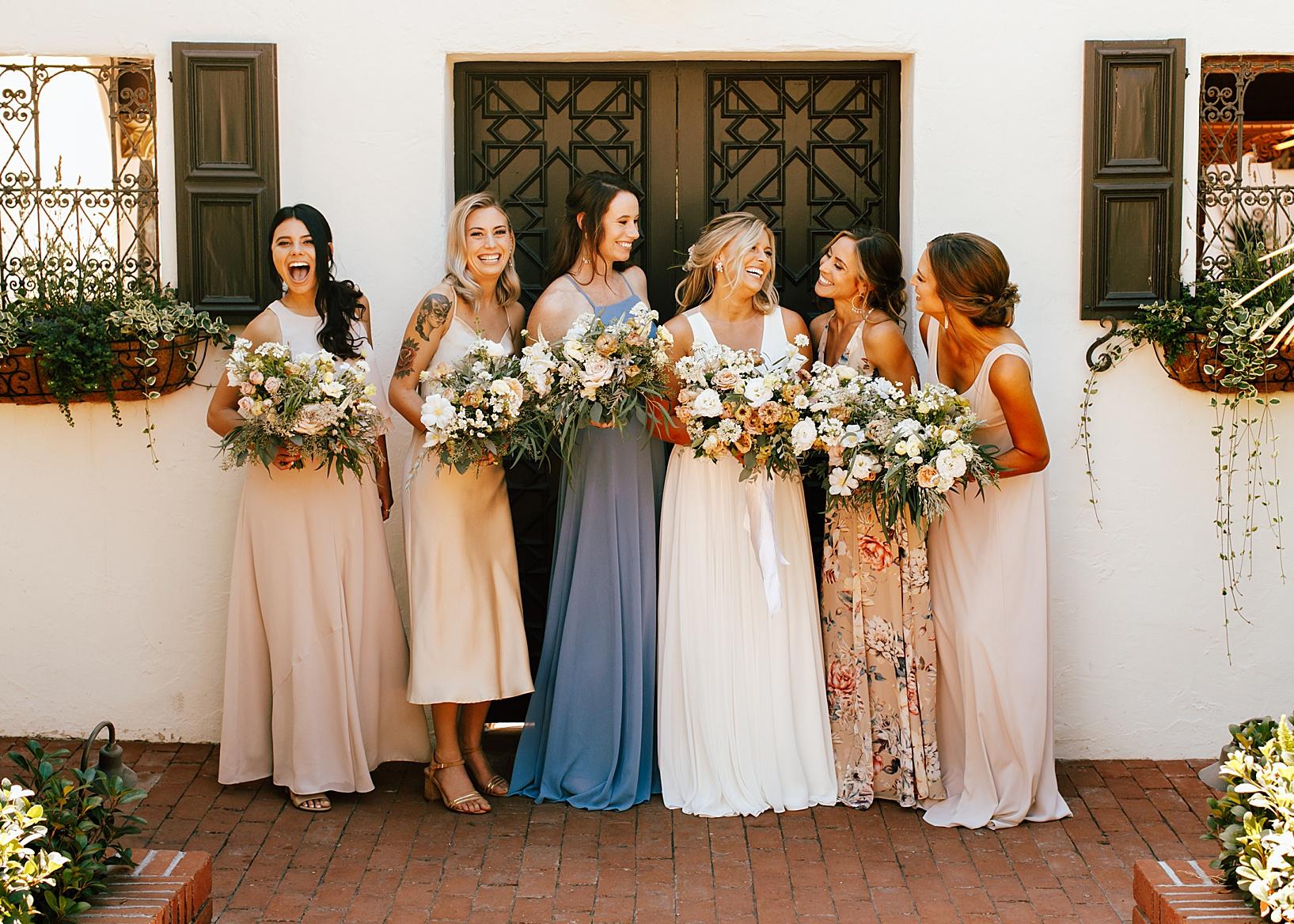 wedding party for La Jolla, Ca wedding at TThe Darlington House
