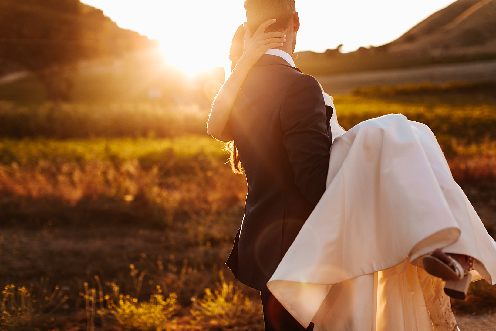 sunset portraits for Los Alamos Wedding at 1800 Union Hotel