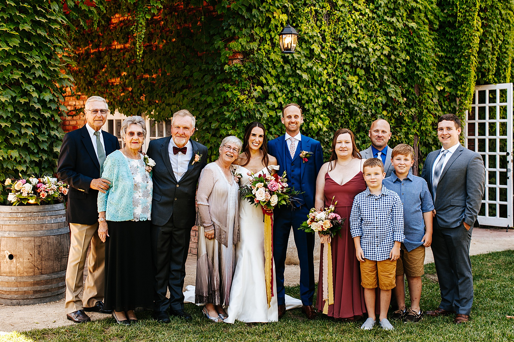 family photos for Los Alamos Wedding at 1800 Union Hotel