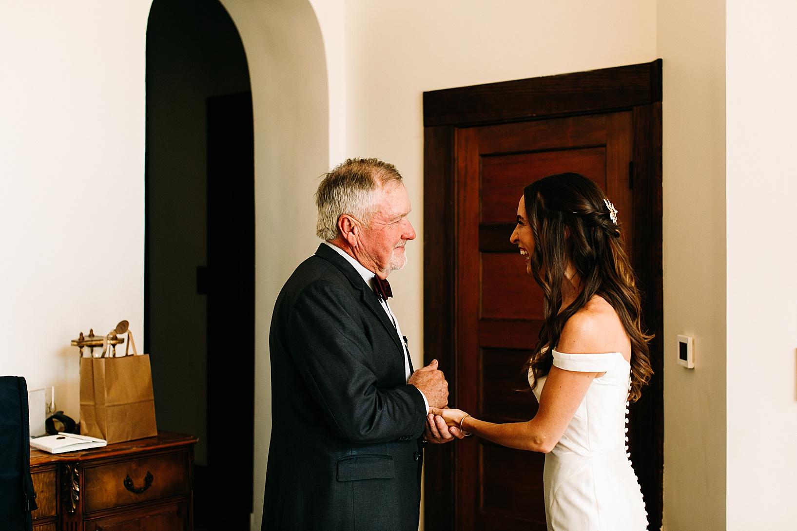 getting ready for Los Alamos Wedding at 1800 Union Hotel