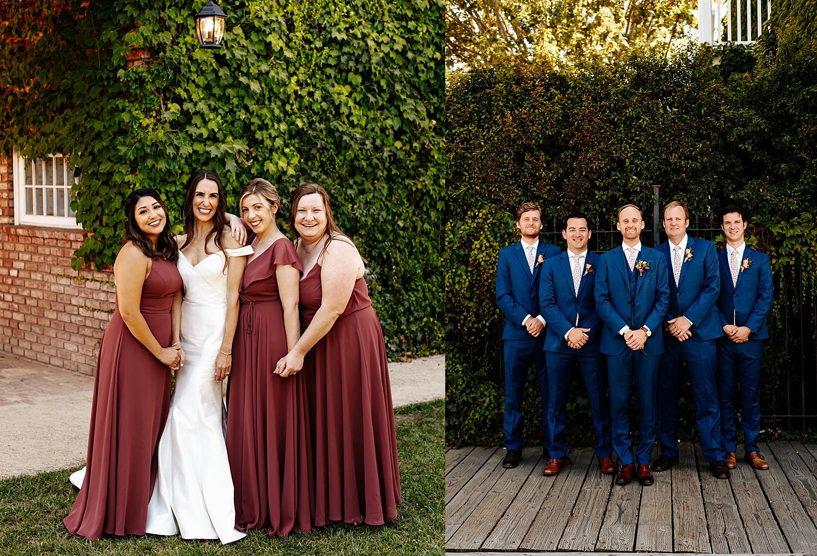 wedding party for Los Alamos Wedding at 1800 Union Hotel